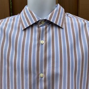 Banana Republic Fitted Striped Woven Button Down